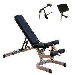 Body-Solid Heavy Duty Universal Bench GFID71 + Preacher Curl Station GPCA1 + Leg Dev. GLDA3