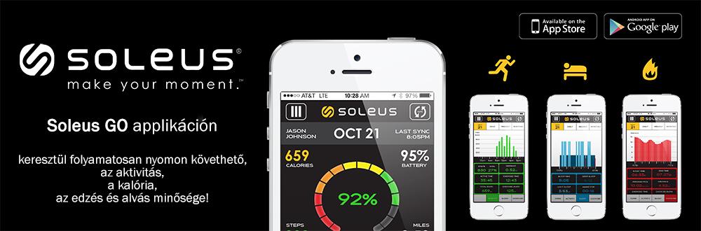Soleus Go aktivitásmérő karkötő applikáció