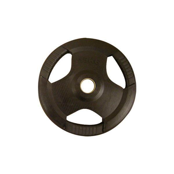 PL26 (50 mm) Fekete fogós gumírozott tárcsa (1,25-2,5-5-10-15-20-25) kg