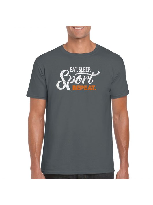 Man T-shirt Repeat - Gray