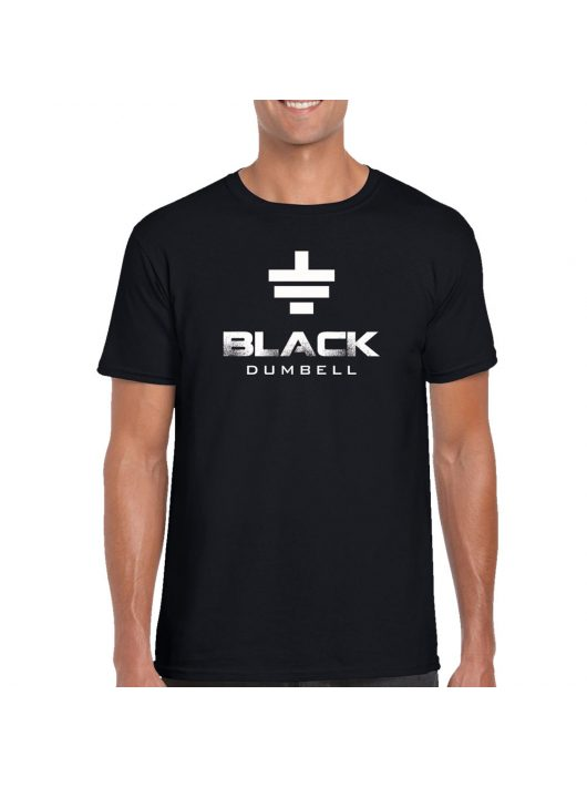 Man T-shirt Black Dumbell - Black