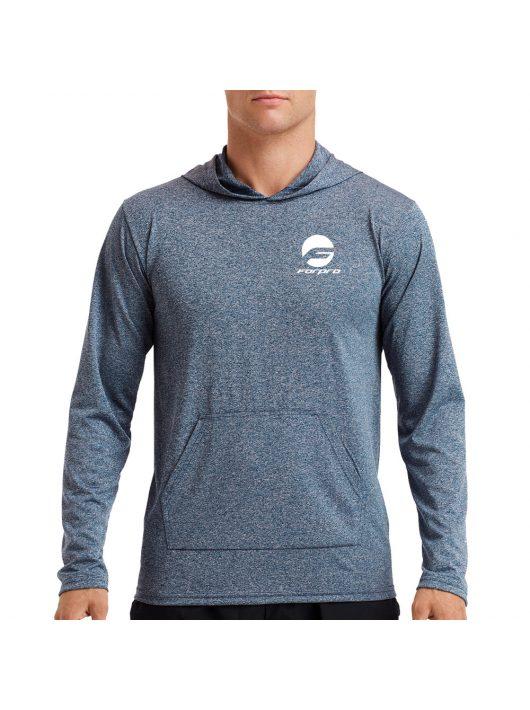 Man Hooded T-shirt - Black/Gray