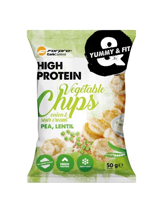 Forpro Protein Vegetable Chips Onion & Sour Cream 50g