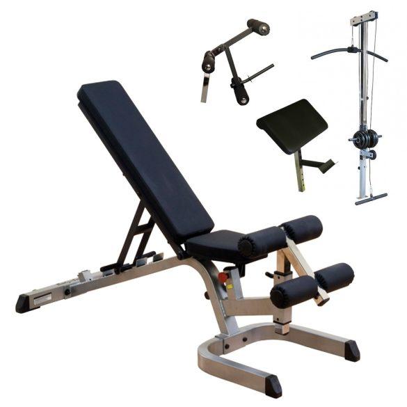 Body-Solid Univerzális pad + Scott pad + Lábgép + Hátgép (GFID71+GPCA1+GLDA3+GLRA81)