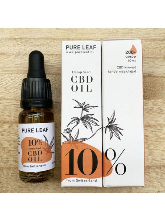 Pure Leaf 10% CBD olaj - 10 ml
