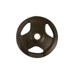 PL26 (30 mm) Fekete fogós gumírozott tárcsa (1,25-2,5-5-10-15-20) kg