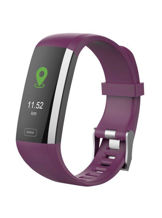 SWISSTONE SW 600 HR Purple aktivitásmérő pulzus, vérnyomás és vér oxigén méréssel