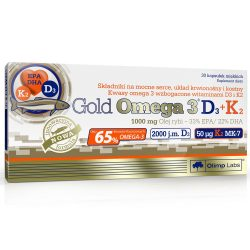 Olimp Gold Omega 3 D3 + K2 - 30 kapszula