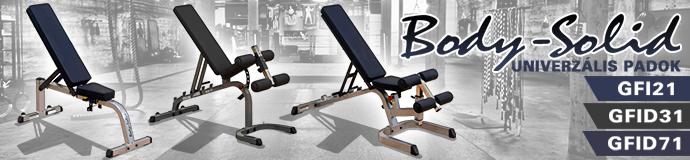 Body-Solid edzőpadok: GFI21, GFID31, GFID71 és sok más edzőpad, haspad, univerzális pad!