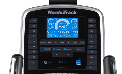 Nordictrack SE3i kijelző
