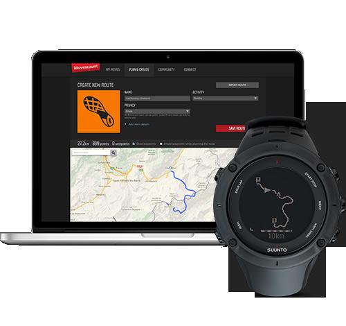 Suunto Abit 3 peak GPS - tervezd meg, Vidd véghez